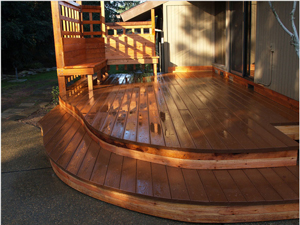 Poolside Composite Redwood Deck
